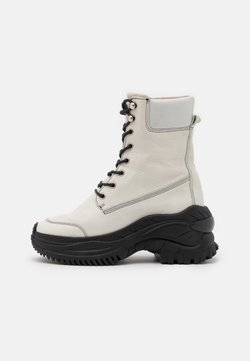 Bronx - CHAINY - Plateaustiefelette - winter white/black