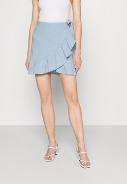 ONLY - ONLCARLY BETTI LIFE WRAP STRIP SKIRT - Jupe portefeuille - cloud dancer/allure