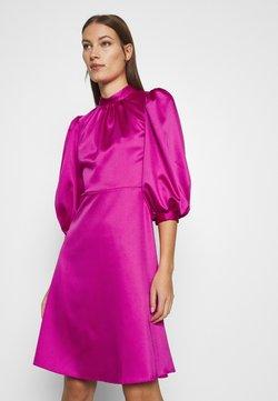 Closet - CLOSET HIGH NECK PUFF SLEEVE MINI DRESS - Vestido de cóctel - pink