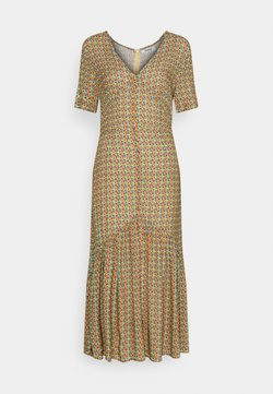 Glamorous - VNECK SHORT SLEEVE MIDI DRESS - Korte jurk - multi-coloured