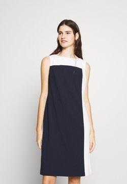 Lauren Ralph Lauren - LUXE TECH TONE DRESS - Cocktailkleid/festliches Kleid - navy/cream
