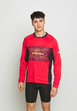 Zimtstern - TECHZONEZ MEN - Funktionsshirt - cyber red/french navy/mimosa