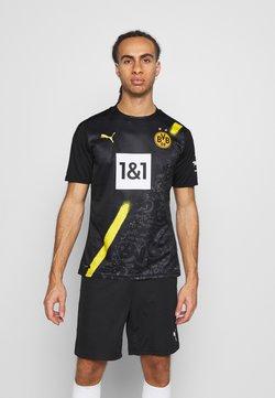 Puma - BVB BORUSSIA DORTMUND AWAY SHIRT REPLICA SPONSOR LOGO - Vereinsmannschaften - black