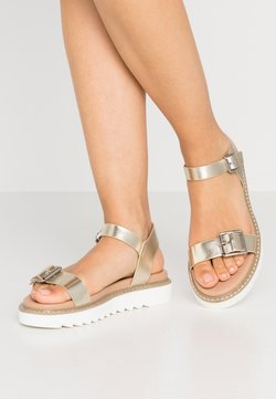 ONLY SHOES - ONLMALU CHUNKY  - Plateausandalette - gold