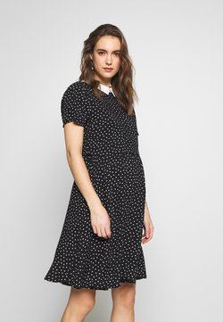 Gebe - DRESS PARIS NURSING - Vapaa-ajan mekko - black-white