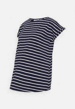 JoJo Maman Bébé - BOYFRIEND - T-Shirt print - navy/white