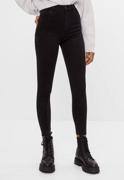 Bershka - MIT SEHR HOHEM BUND  - Jeans Skinny - black