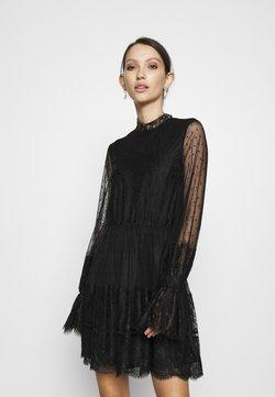 NA-KD - FRILL DRESS - Cocktailklänning - black