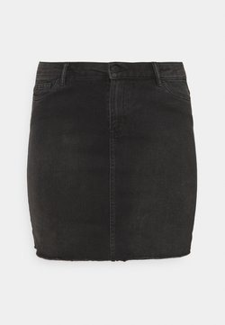 Vero Moda Curve - VMFAITH SHORT SKIRT MIX - Minirock - black