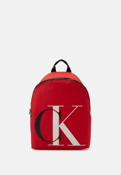 Calvin Klein Jeans - EXPLODED MONOGRAM BACKPACK - Reppu - red
