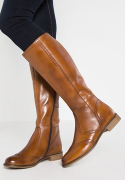Anna Field - LEATHER BOOTS - Bottes - cognac