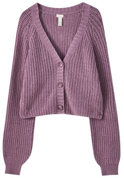 PULL&BEAR - Strickjacke - dark purple
