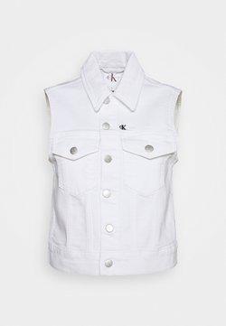 Calvin Klein Jeans - VEST - Smanicato - denim white
