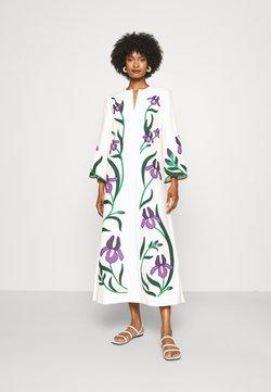Tory Burch - IRIS EMBROIDERED CAFTAN - Korte jurk - new ivory