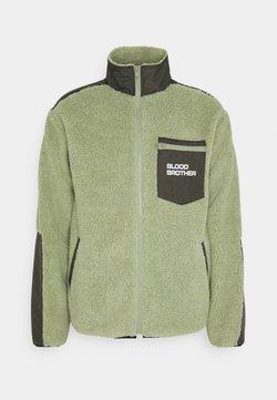 Blood Brother - BEAUVOIR UNISEX - Fleece jacket - green/beige