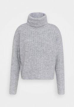 Even&Odd - RIBBED BOXY TURTLE NECK - Stickad tröja - light grey