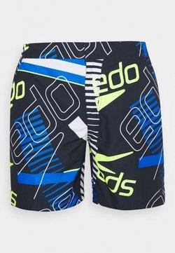 Speedo - VINTAGE PARADISE WATERSHORT - Shorts da mare - true navy/white/fluo yellow/bondi blue