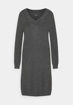 GAP - CROSSOVER VNECK - Vestido de punto - charcoal grey