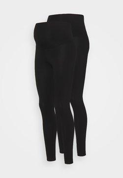 Dorothy Perkins Maternity - OVERBUMP LEGGING 2 PACK - Legginsy - black