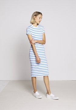 Polo Ralph Lauren - PIMA - Etuikleid - white/rivera blu