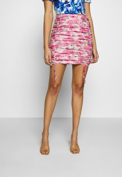 Missguided - SHEER MINI SKIRT - Pencil skirt - pink