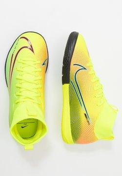Nike Performance - MERCURIAL 7 ACADEMY MDS IC UNISEX - Fußballschuh Halle - lemon/black/aurora green