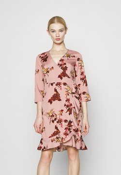 Vero Moda - VMHENNA WRAP - Day dress - woodrose