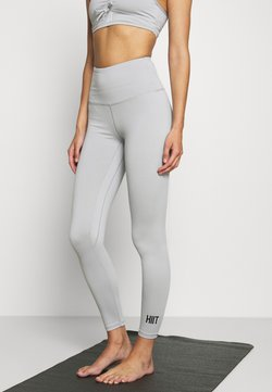HIIT - LOXY RUCHED LEGGING - Tights - mid grey