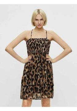 Pieces - Sukienka letnia - black/brown