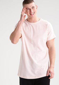 Urban Classics - LONG SHAPED TURNUP TEE - T-Shirt basic - pink