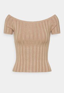 Even&Odd - T-Shirt print - camel