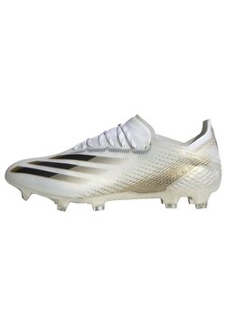 adidas Performance - X GHOSTED.1 FOOTBALL BOOTS FIRM GROUND - Fußballschuh Nocken - ftwwht/cblack/metgol