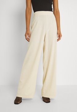 Missguided - WIDE LEG TROUSER  - Trousers - cream