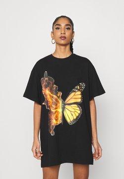 NEW girl ORDER - BUTTERFLY DRESS - Vestido ligero - black