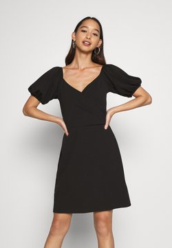 Vero Moda - VMJASMINE WRAP SHORT DRESS - Jerseyklänning - black