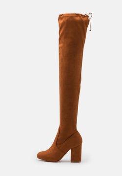 Even&Odd Wide Fit - High heeled boots - cognac