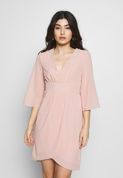 VILA PETITE - VIMICADA SLEEVE DRESS - Vestido de cóctel - pale mauve