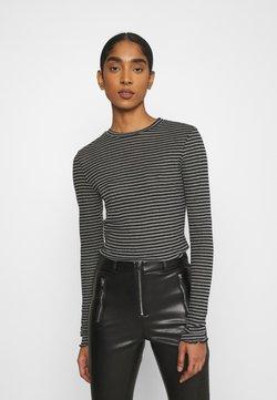 Vero Moda - VMOLINE - Langarmshirt - medium grey melange/black