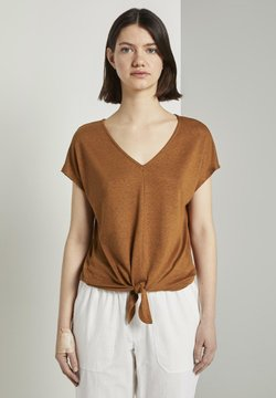 TOM TAILOR DENIM - Camiseta estampada - mango brown