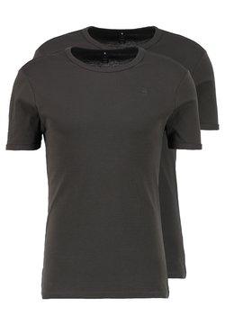 G-Star - BASE 2 PACK  - T-Shirt basic - asfalt