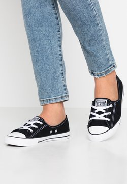 Converse - CHUCK TAYLOR ALL STAR BALLET LACE - Loafers - black/white