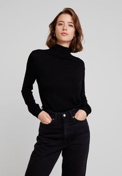 Vila - VIBOLONIA KNIT ROLLNECK TOP-NOO - Strickpullover - black