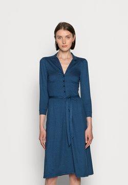 King Louie - LOLA BUTTON DRESS LITTLE DOTS - Jerseykleid - blue dawn