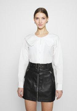 NA-KD - EMBROIDERY COLLAR - Camicia - off white