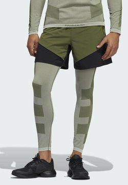 adidas Performance - STUDIO TECH SHORTS - Pantalón corto de deporte - green