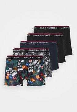 Jack & Jones - JACPRINTED TRUNKS 5 PACK - Panties - black/navy blazer