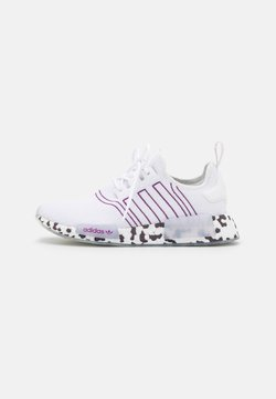 adidas Originals - NMD_R1  - Matalavartiset tennarit - footwear white/active purple