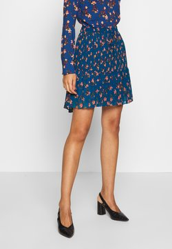 Scotch & Soda - PRINTED SKIRT WITH PLEATS - A-Linien-Rock - blue/pink