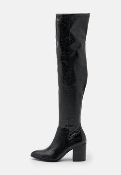 Steve Madden - JACEY - Overknee laarzen - black