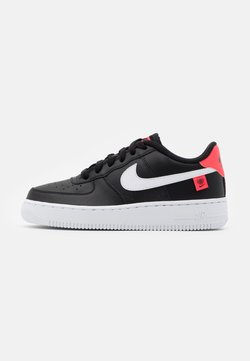 Nike Sportswear - AIR FORCE 1 UNISEX - Sneakers basse - black/white/flash crimson